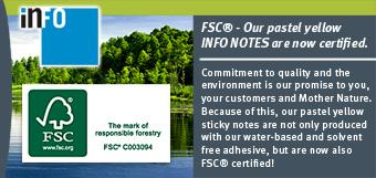 FSC - Les notes adhésives INFO Notes sont désormais certifiées !
